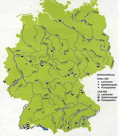 wasserkraftwerke in deutschland karte In Deutschland nur noch geringer Ausbau möglich